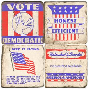 Democratic Party Coaster Set