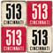 Cincinnati Area Code 513 Coaster Set