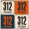 Chicago Area Code 312 Coaster Set