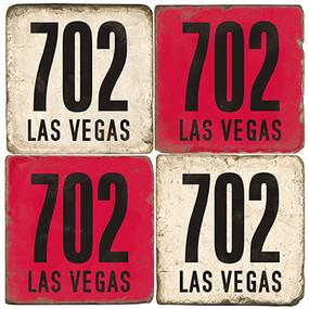 Las Vegas Area Code 702 Coaster Set