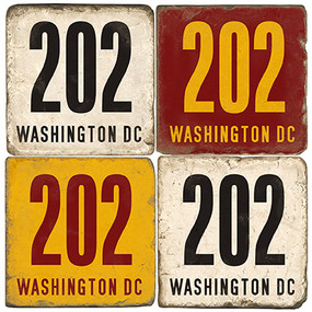 Washington DC Area Code 202 Coaster Set