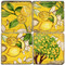 Yellow Lemon Zest Coaster Set. Handmade Marble Giftware by Studio Vertu.