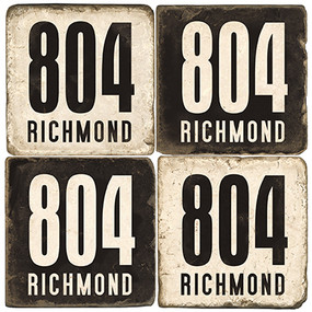 Black & White Virginia Area Code Coaster Set