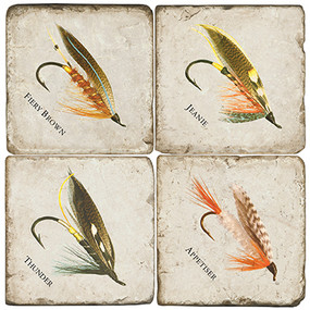 Fishing Lure Coaster Set