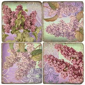 Colorful Lilac Coaster Set
