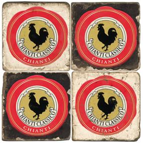 Chianti label coaster set