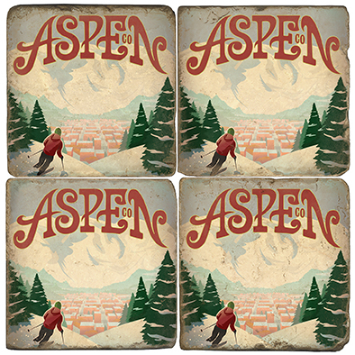 Aspen Colorado Coaster Set