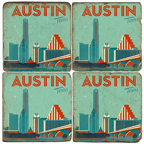 Austin Texas Coaster Set