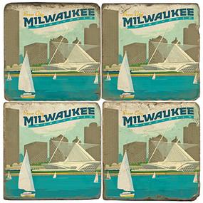 Milwaukee, Wisconsin Coaster Set