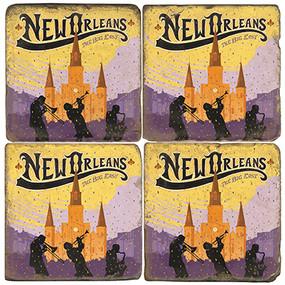 New Orleans Coaster Set
