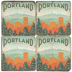 Portland, Oregon Coaster Set