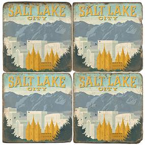 Salt Lake City, Utah Coaster Set