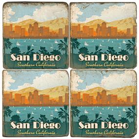 San Diego, California Coaster Set