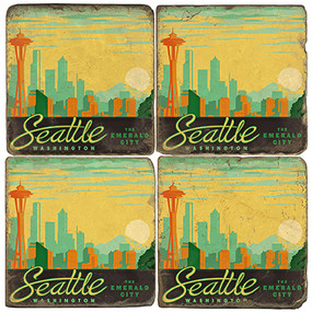 Seattle, Washington Coaster Set
