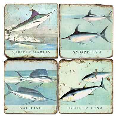 Saltwater Fish Coaster Set