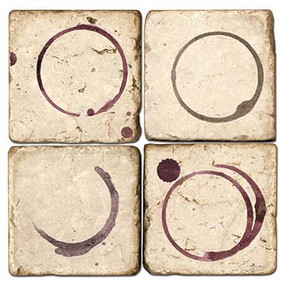 Wine Rings Coaster Set