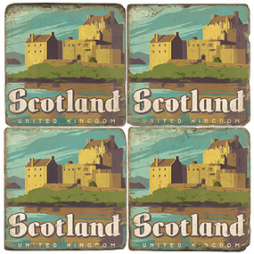 Scotland Coaster Set. Illustration by Anderson Design Group.