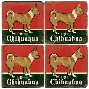 I love my Chihuahua Coaster Set. License artwork by Anderson Design Group.