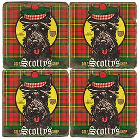 Scotty's Golf Shop Coaster Set. License artwork by Anderson Design Group.