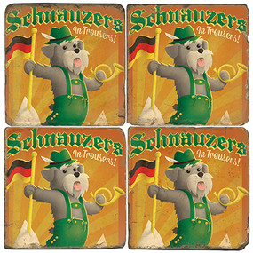 Schnauzer Coaster Set. License artwork by Anderson Design Group.
