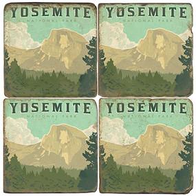 Yosemite National Park Coaster Set. License artwork by Anderson Design Group.