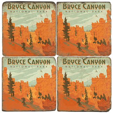 Bryce Canyon National Park Coaster Set. License artwork by Anderson Design Group.