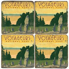 Voyageurs National Park Coaster Set. License artwork by Anderson Design Group.