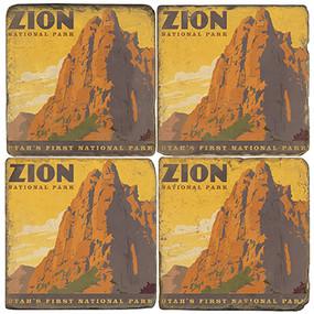Zion National Park Coaster Set. License artwork by Anderson Design Group.