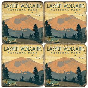 Lassen Volcanic National Park Coaster Set. License artwork by Anderson Design Group.