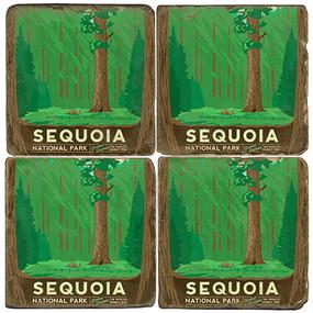 Sequoia National Park Coaster Set. License artwork by Anderson Design Group.