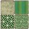 Green Forever Coaster Set.  Tumbled Italian Giftware by Studio Vertu.