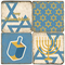 Hanukkah Themed Coaster Set.  Tumbled Italian Marble Giftware by Studio Vertu.