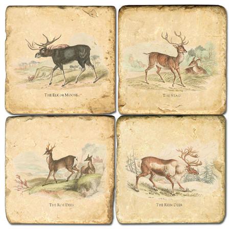 Deer Coaster Set.  Hand Made Marble Giftware by Studio Vertu.