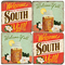 Southern Inspired Coaster Set. Hand Made Marble Giftware by Studio Vertu.