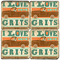 Love Grits Coaster Set.  Hand Made Marble Giftware by Studio Vertu.