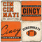 Cincinnati Football Themed Coaster Set.  Handmade Marble Giftware by Studio Vertu.