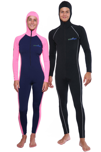 women and men full body uv swimsuits