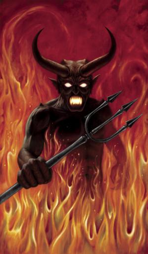 Devil's Hell Halloween Window Poster Decoration