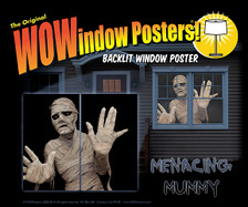 Menacing Mummy poster as seen in a house