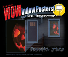 Peeking Jack Poster as seen in a house