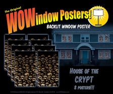 8 Skull posters shown in 8 windows