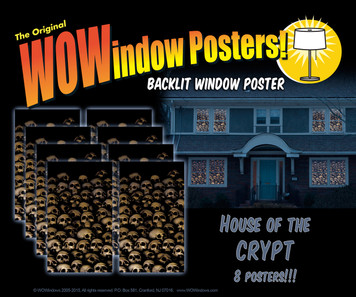 8 Skull posters shown in 8 windows