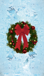 Christmas Wreath Poster - Decorative Christmas Window Poster