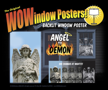 Angel to Demon  Halloween Window Poster shown in a window of a house with a detail of it changing from Angel to Demon