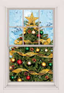Christmas Tree as seen in a window
