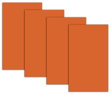 4 sheets of Halloween Orange Window coverings