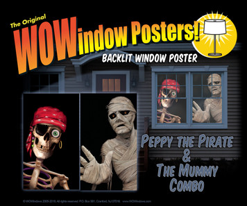 Peppy the Pirate and The Mummy WOWindow Halloween Poster Decorations as seen in a house at night