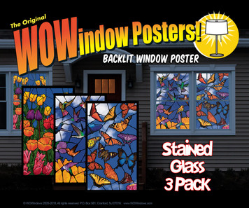 3 Pack of Hummingbirds, Spring Flowers and Butterflies Stained Glass Decorative Window Posters as seen from outside a house a night