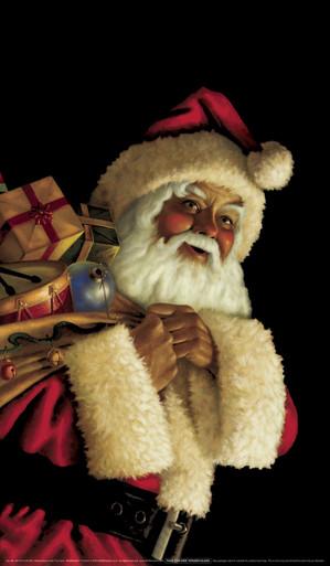 Santa Claus Decorative Christmas Window Poster