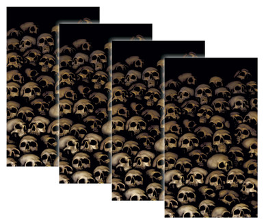 House Full of Skulls 4 pack of Halloween Window Poster Decorations